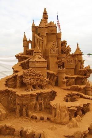 escultura em areia por Eva0707