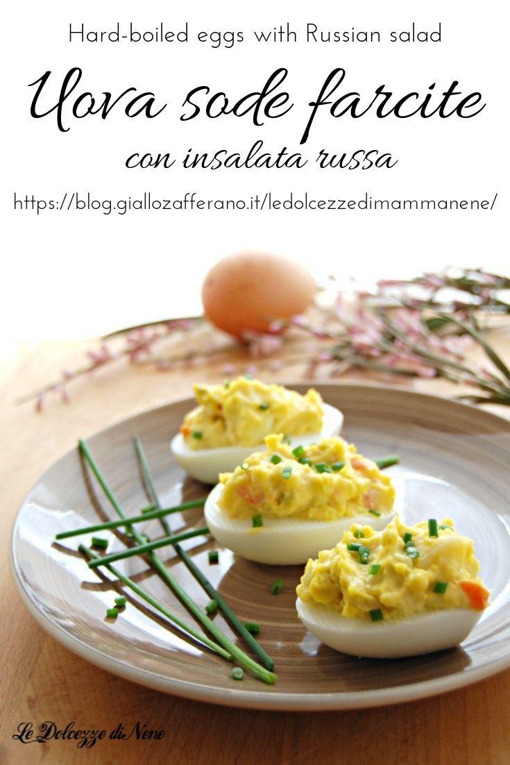 Ricetta Insalata Russa Giallo Zafferano.Uova Sode Farcite Con Insalata Russa Ricette Uova Sode Idee Alimentari