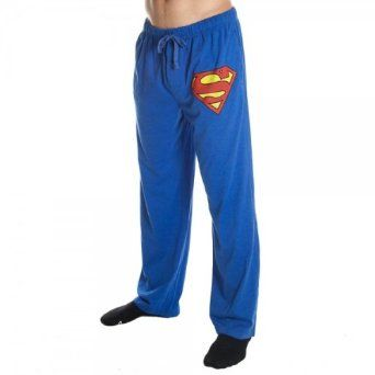 Superman sweat pants! Even though they're men's, they look so comfortable!