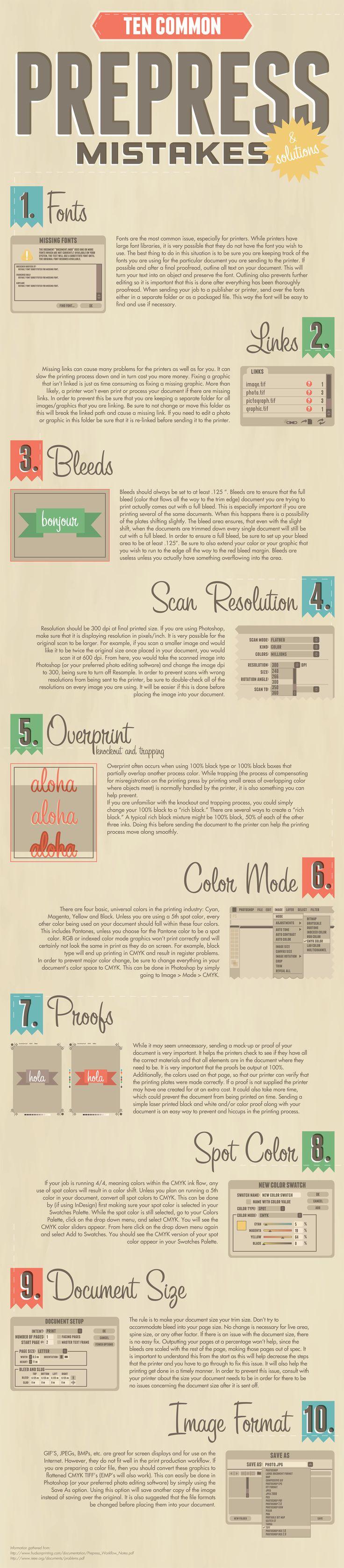 Ten Common Prepress Mistakes Infographic http://s3images.coroflot.com/user_files/individual_files/original_457425_i5nJ_ct9ueVMZw_ZMy4dAha7x.jpg
