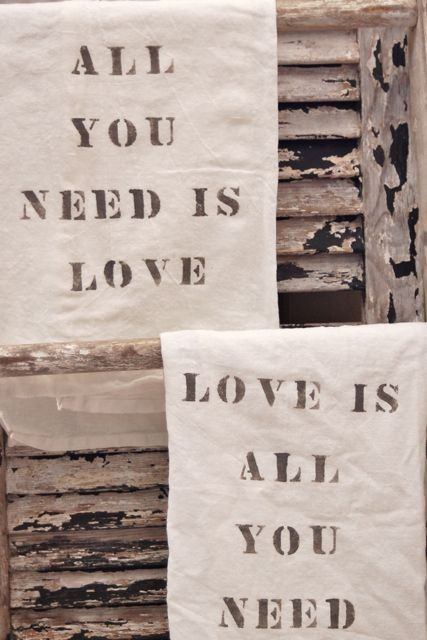 All+You+Need+Is+Love+Flour+Sack+Towel+Set+by+VintageJunkyStyle,+$18.00