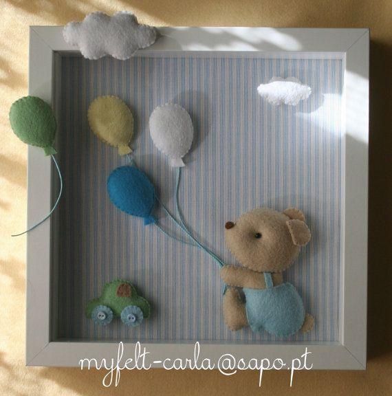 Baby Decorative Frame Child Frame Decoration Bear by myfelt