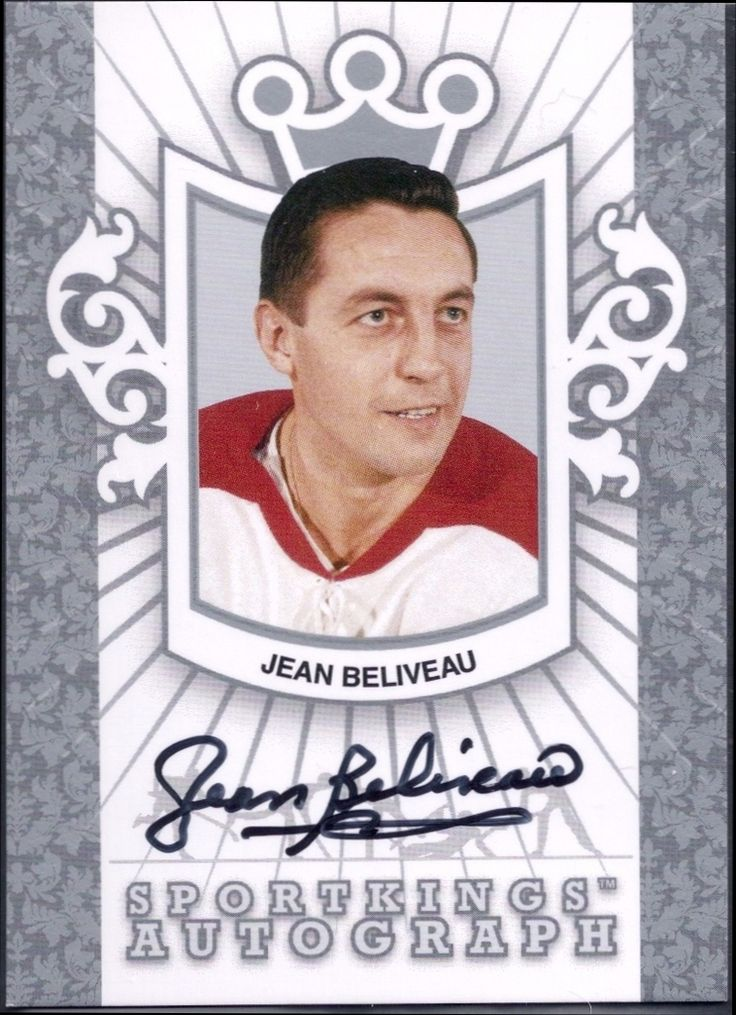 2007 Sportskings Jean Beliveau autograph