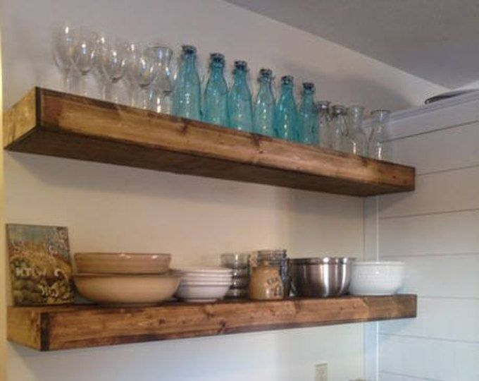 Wood Floating Shelves 10 Inch Deep Rustic Shelf Farmhouse Shelf Floating Shelf Reclaimed Floating Shelf Handmade Wood Floating Shelves Wood Wall Shelf Floating Shelves Kitchen