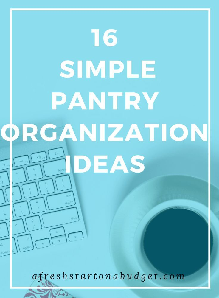does your pantry need some TLC? Well here are 16 simple organization ideas for pantries.
