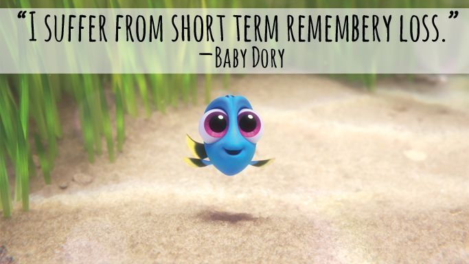 Baby Dory Quote from Finding Dory