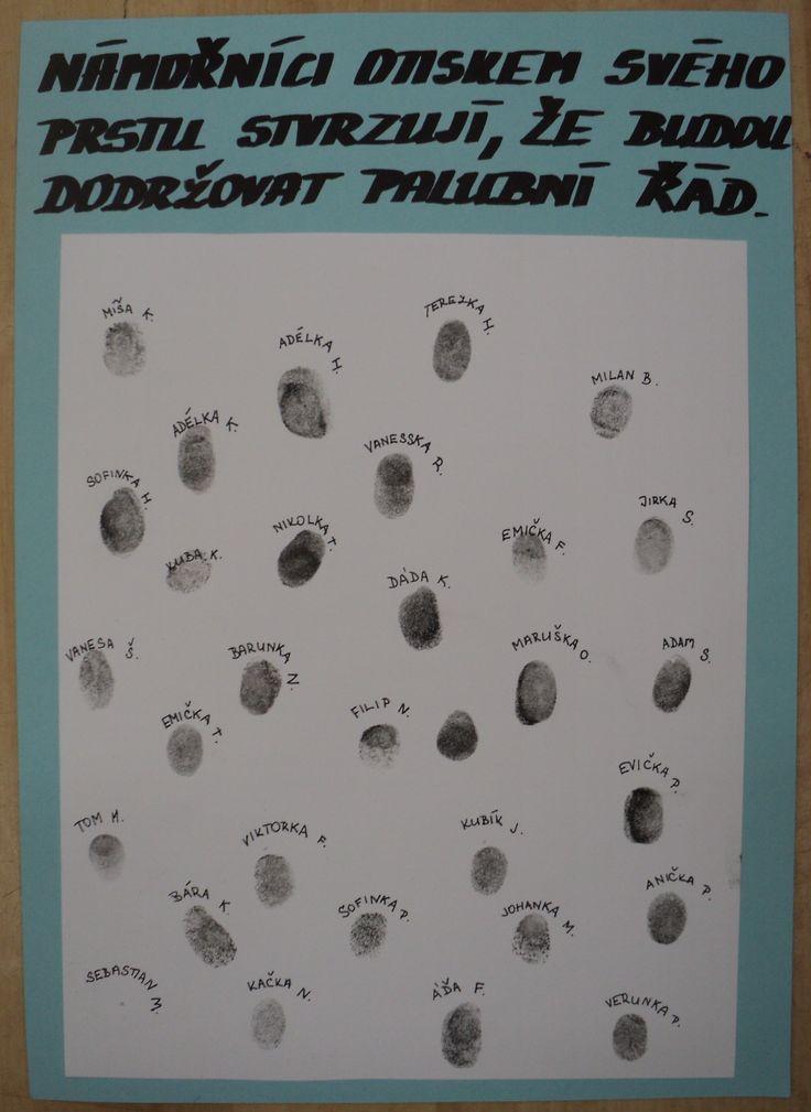 Otisky prstů - dodržování palubního řádu