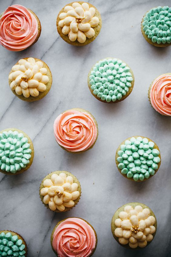 These spring cupcakes are jazzed up with a bit of Kendall-Jackson Grand Reserve Rosé in both the cake and the frosting, making for a double-the-fun, sophisticated, little cake that's fit for any springtime celebration. And here's a little secret for you: they're really not that difficult to decorate. #recipe