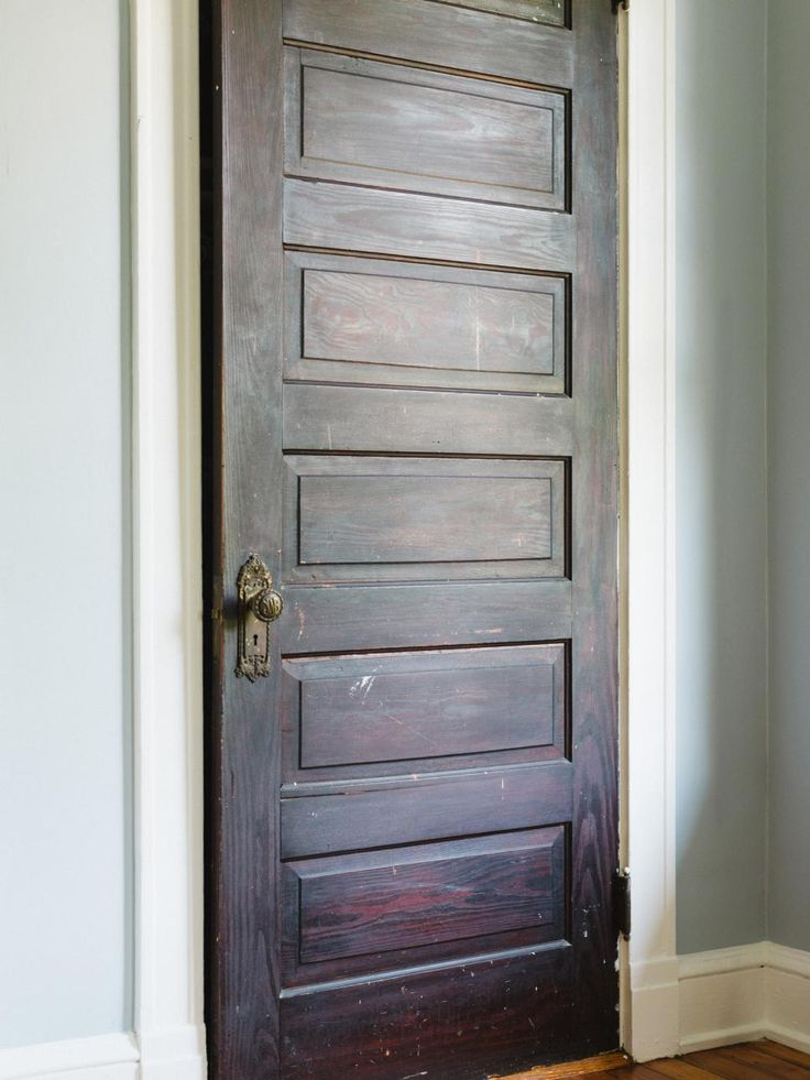 Historic homes have different remodeling needs than others. An excellent way to guarantee a high ROI (return on investment) is to search local salvage yards for interior doors original to your home's style of architecture. Here, a 150-year-old solid wooden closet door was added to preserve the character of this 1910 Victorian home in Atlanta.