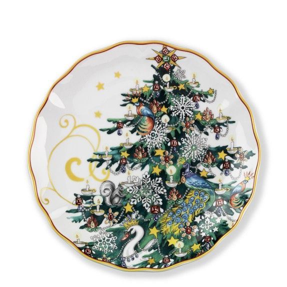 Tu0027was The Night Before Christmas Salad Plates Set of 4 Tree (  sc 1 st  Pinterest & 34 best Reindeer Dinnerware images on Pinterest | Christmas dishes ...