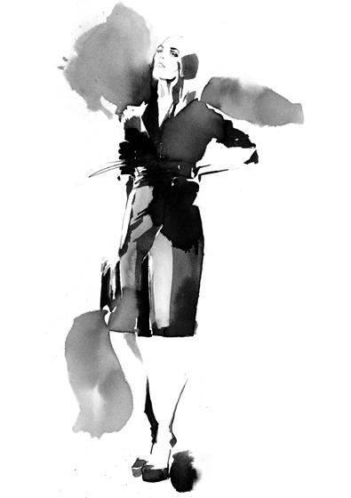 Watercolour fashion illustration - stylish fashion drawing // Amelie Hegardt
