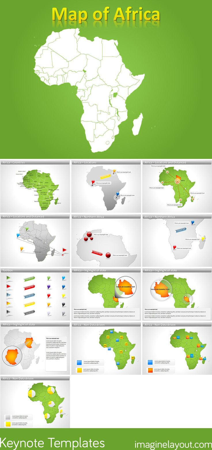 84 best keynote maps templates images on pinterest keynote role download africa keynote maps gumiabroncs Gallery