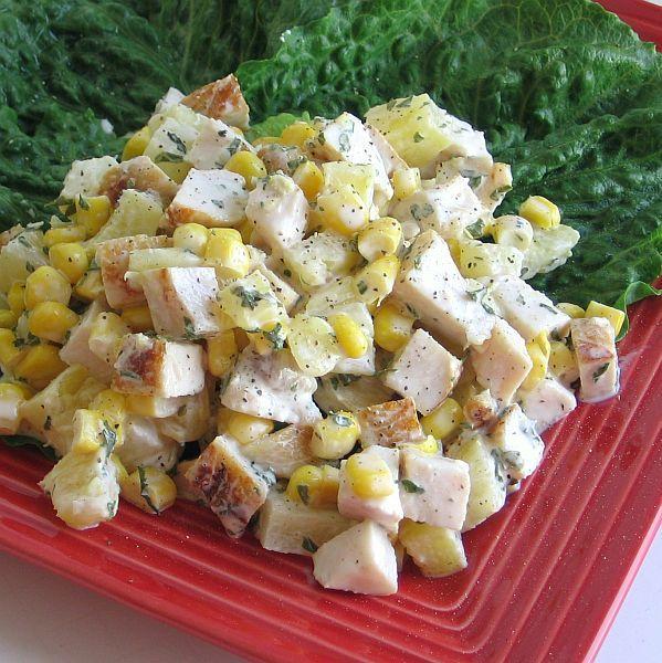 Polish Pineapple Chicken Salad Recipe - Salatka z Ananasem i Kurczakiem