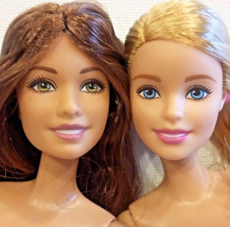 New out of Box Mattel BARBIE DOLL LOT nude/set of 2 blonde brunette model (p) #Mattel #Dolls
