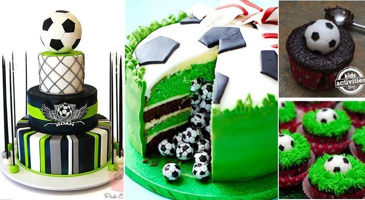 Les 28 plus beaux gâteaux de soccer! Plus des mini tutoriels photos! Football