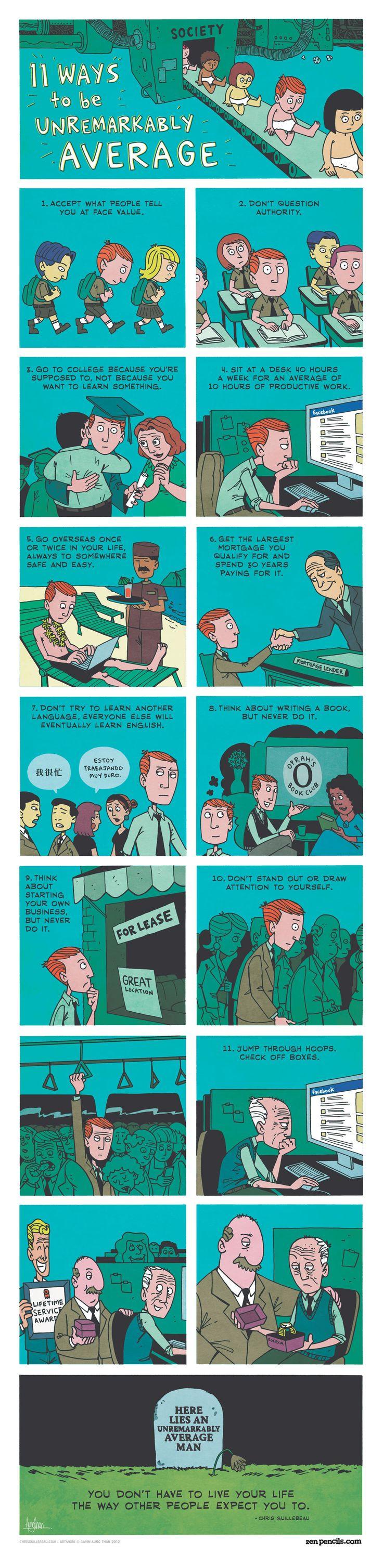 ZEN PENCILS - 11 ways to be average