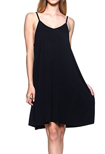 Casual Spaghetti Strap Cover Up Dresses: Beach Loose Tank Club Lounge Sleep