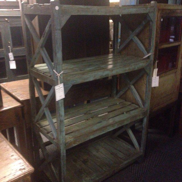 Vintage Indian three tier teak kitchen rack R3200