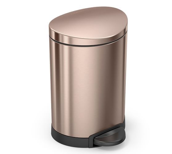 Best Simplehuman® 6 Litre Trash Can Rose Gold Bath 640 x 480