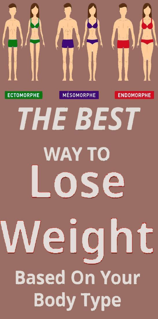 How To Lose Weight Based On The Type Of Your Body