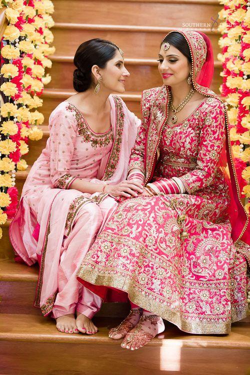 Revina In A Pink Embellished #Lehenga. For Her Wedding To Shaminder In Sydney.