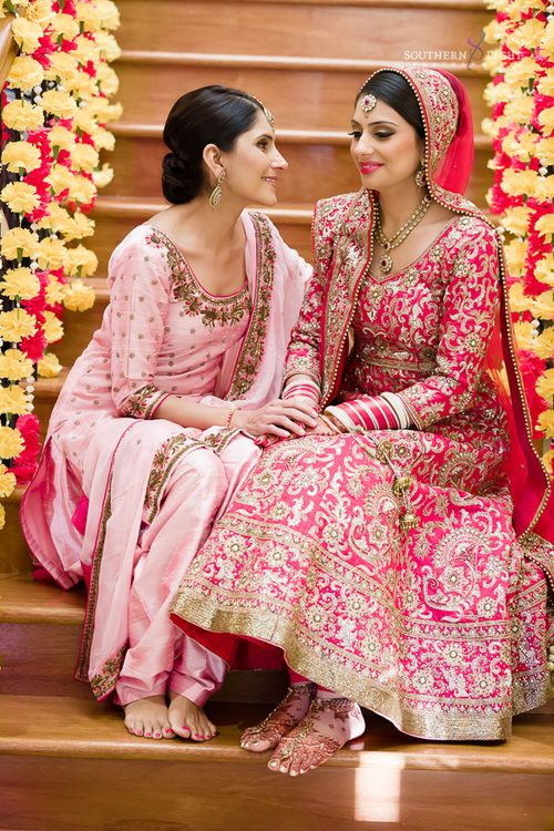 Revina In A Pink Embellished #Lehenga. For Her Wedding To Shaminder In Sydney.