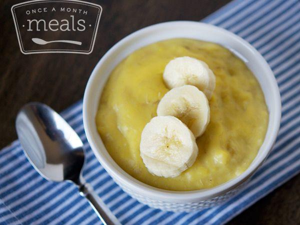 Homemade Banana Pudding - OAMM #freezer