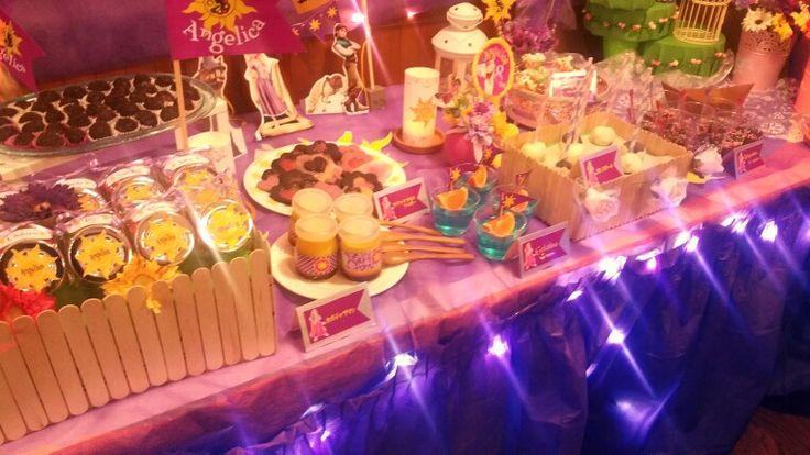 tangled,dessert table