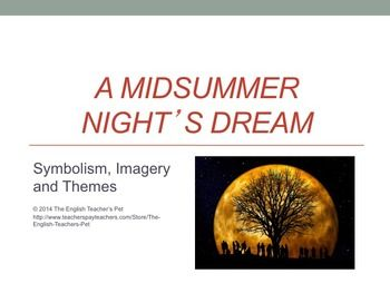 "The Symbol of the Moon in ""A Midsummer Night's Dream"" by Shakespeare"
