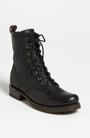 Black Frye 'Veronica Combat' Boot available at #Nordstrom