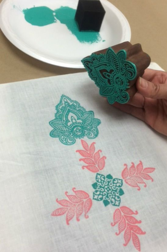 How to Use Fabric Creations Block Printing Stamps and Fabric Inks!