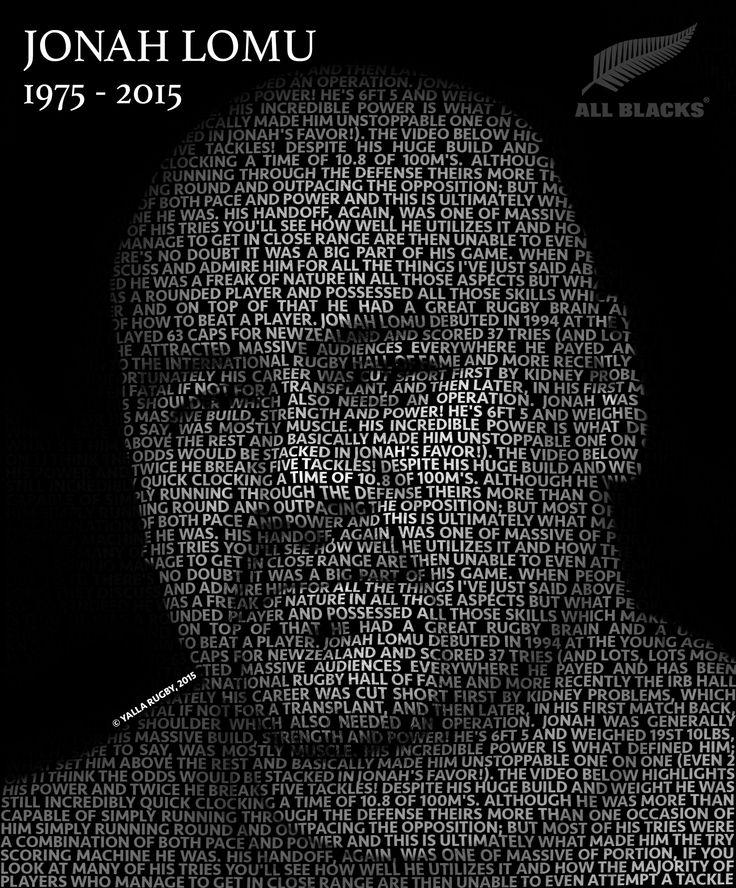Jonah Lomu - A true legend of Rugby. RIP 1975 -2015
