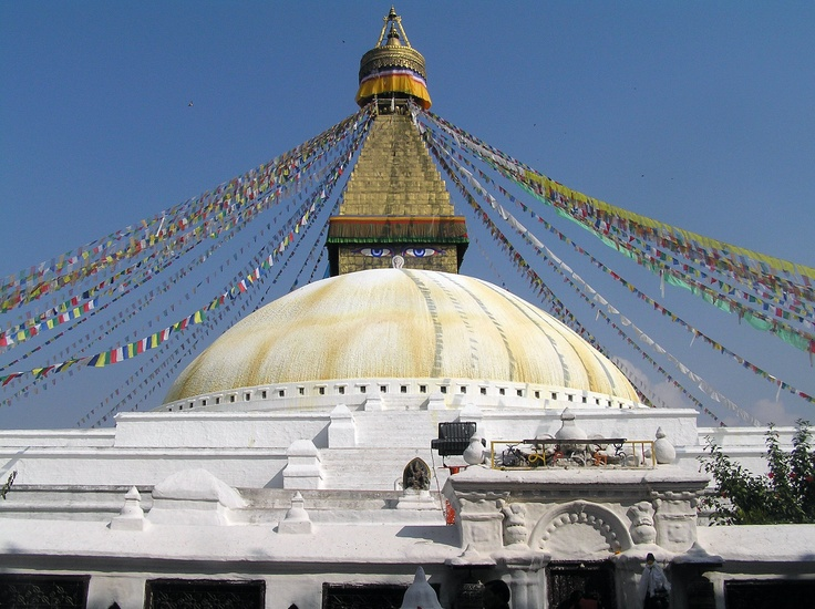 Boudhanath stupa, is one of the holiest sites in Nepal, and also one of the largest Stupa's in the world.