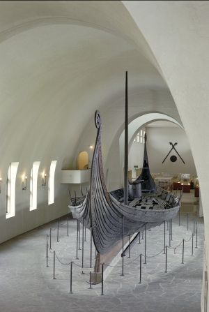 Unearthed Viking boat in Norway. Breathtaking when you walk into the museum and face it.
