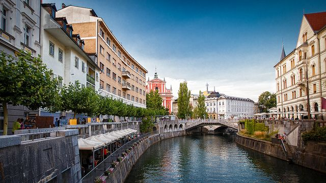 Ljubljana, Slovenia - photo by Gilad Rom via Creative Commons // post on happiestwhenexploring .com