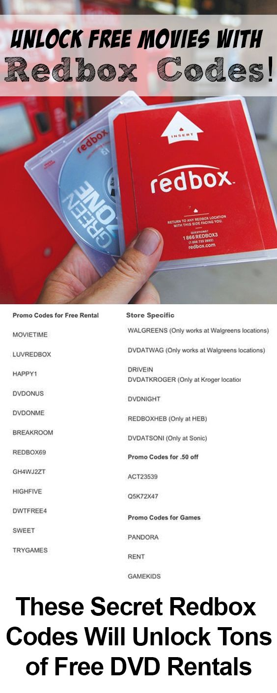 Redbox Gives Out Free Rentals Codes, Here's How To Get Them!