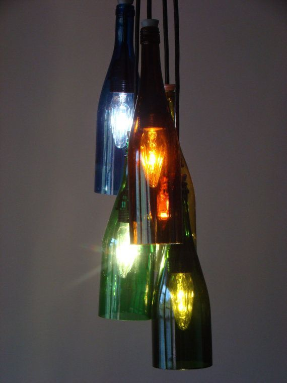 lighting made with wine bottles - Google Search