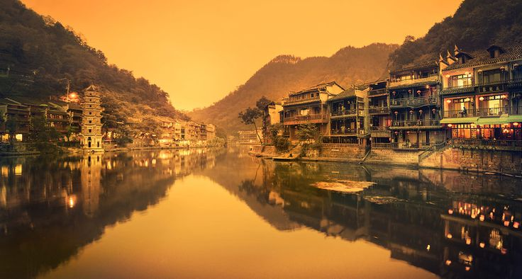 I love these old parts of China that could be from almost any period in history. The riverside part of Feng Huang is a bit like this, so it is one of my favorite areas to photograph. I really need to go back… I'm looking forward to returning and re-imagining these places with new equipment.  - Feng Huang, China - Photo from #treyratcliff Trey Ratcliff at http://www.StuckInCustoms.com