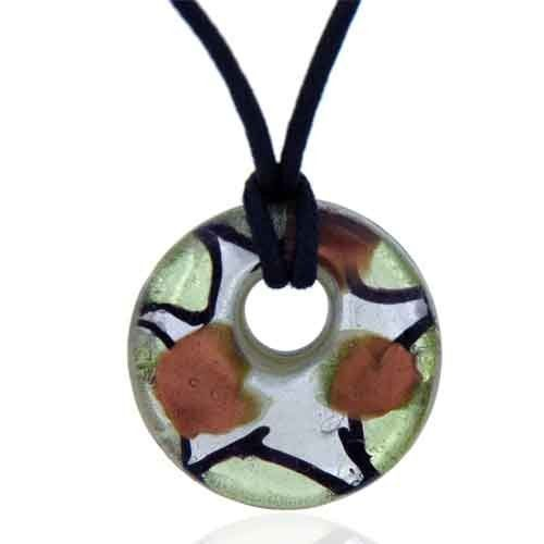 Pugster Murano Glass Sterling Silver Oliver And Foil Donut Necklace Pendant Pugster. $12.79. Excellent for all ages and any occasion. Murano glass pendant. Perfect for Women, girls. Gorgeous for gifts. Made in China. Save 75% Off!