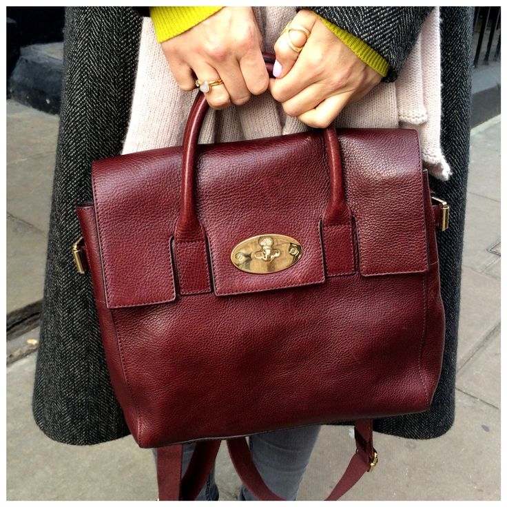 This. Bag. #Mulberry Cara in Oxblood. #TLCStyle #TheLondonChatter