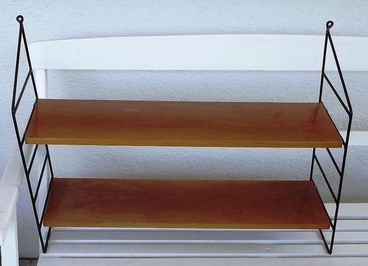 design midcentury modern String Regal Wandregal Leiterregal Regal 60er 70er teak