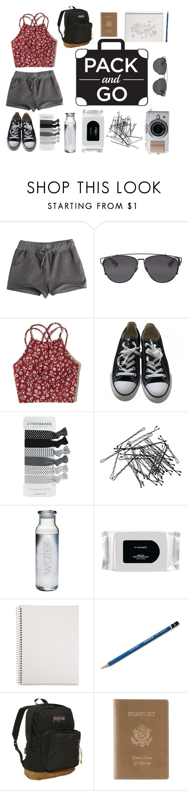 """""""pack and go- mexico city"""" by beccayasha on Polyvore featuring Christian Dior, Hollister Co., Converse, H&M, MAC Cosmetics, Mead, JanSport and Royce Leather"""