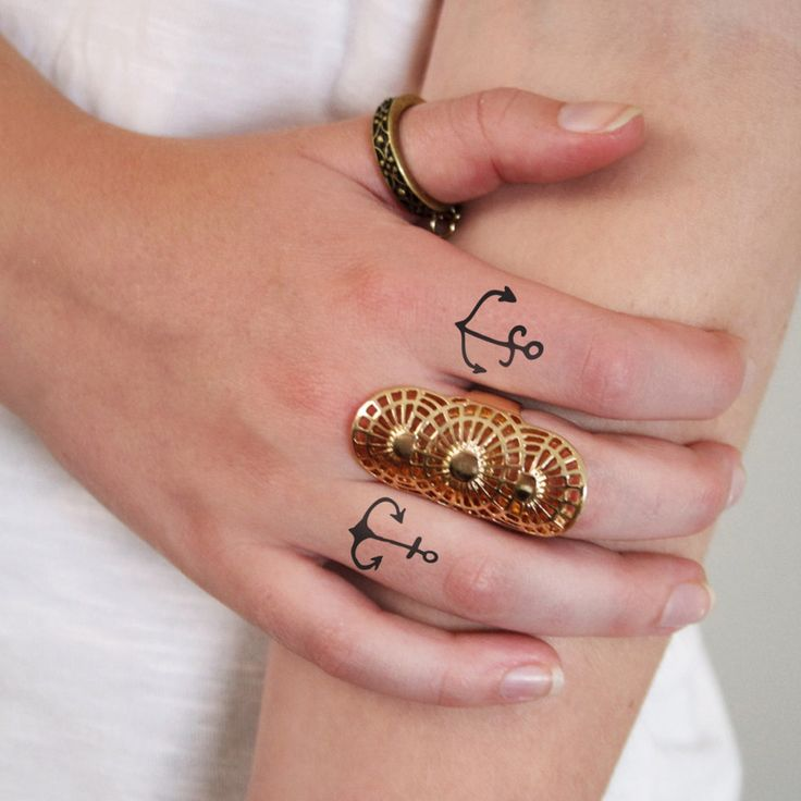These small temporary anchor tattoos look super cute on your fingers. But these…