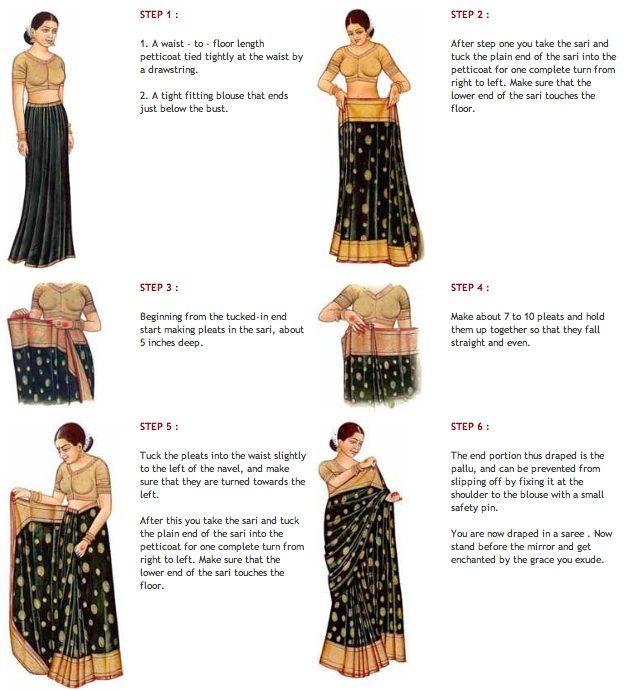 How to wrap a sari dress.