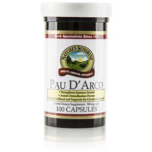 Pau d' Arco (100 caps) Pau D' Arco trees do not develop fungus despite their tropical setting. Helps strengthen your immune system