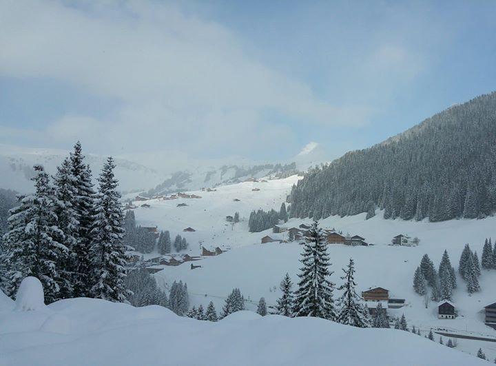 Gestern Nachmittag hat sich die Mittagspitze endlich mal wieder gezeigt  ;-)  #damüls #schneereich #pulverschnee #topofthemountain