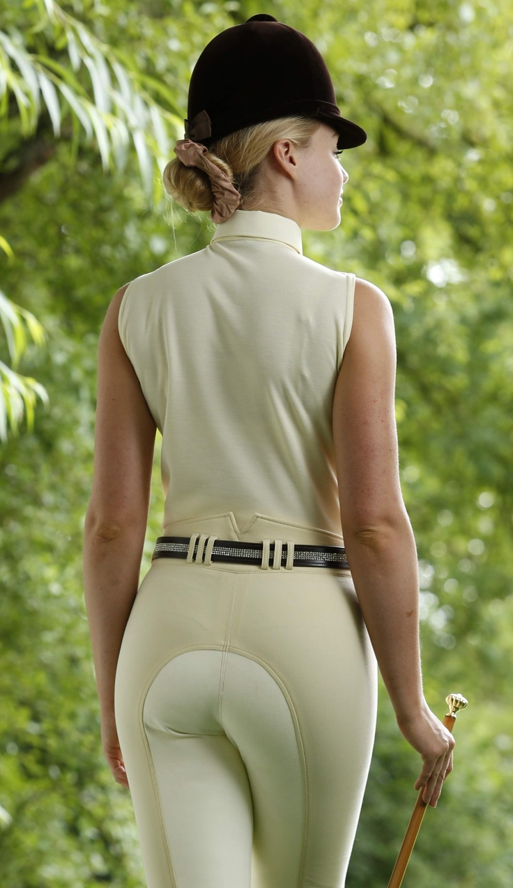 For women riding jodhpurs topless