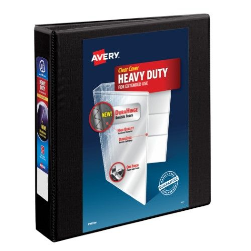 Avery 1.5 Inch Heavy-Duty View Binder, Black, 1 Count
