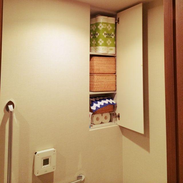 Bathroom/アクリル仕切り棚/トイレ収納/かご収納/シンプル/北欧…などのインテリア実例 - 2015-08-29 13:53:22   RoomClip(ルームクリップ)