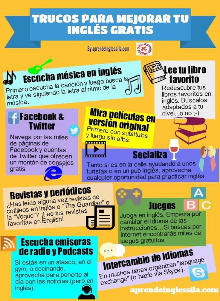 Trucos para mejorar tu ... inglés... :)  (Igual lo hacemos con nuestros estudiantes para mejor su castellano!!! ) ♥